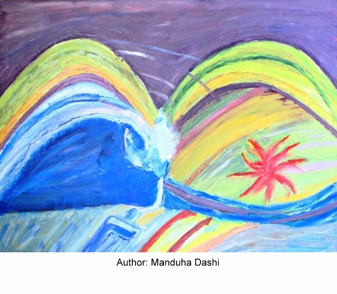 Paintings made by project beneficiaries